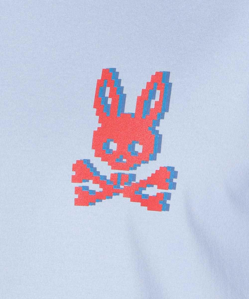 ピクセルバニープリントクルーネックTシャツ