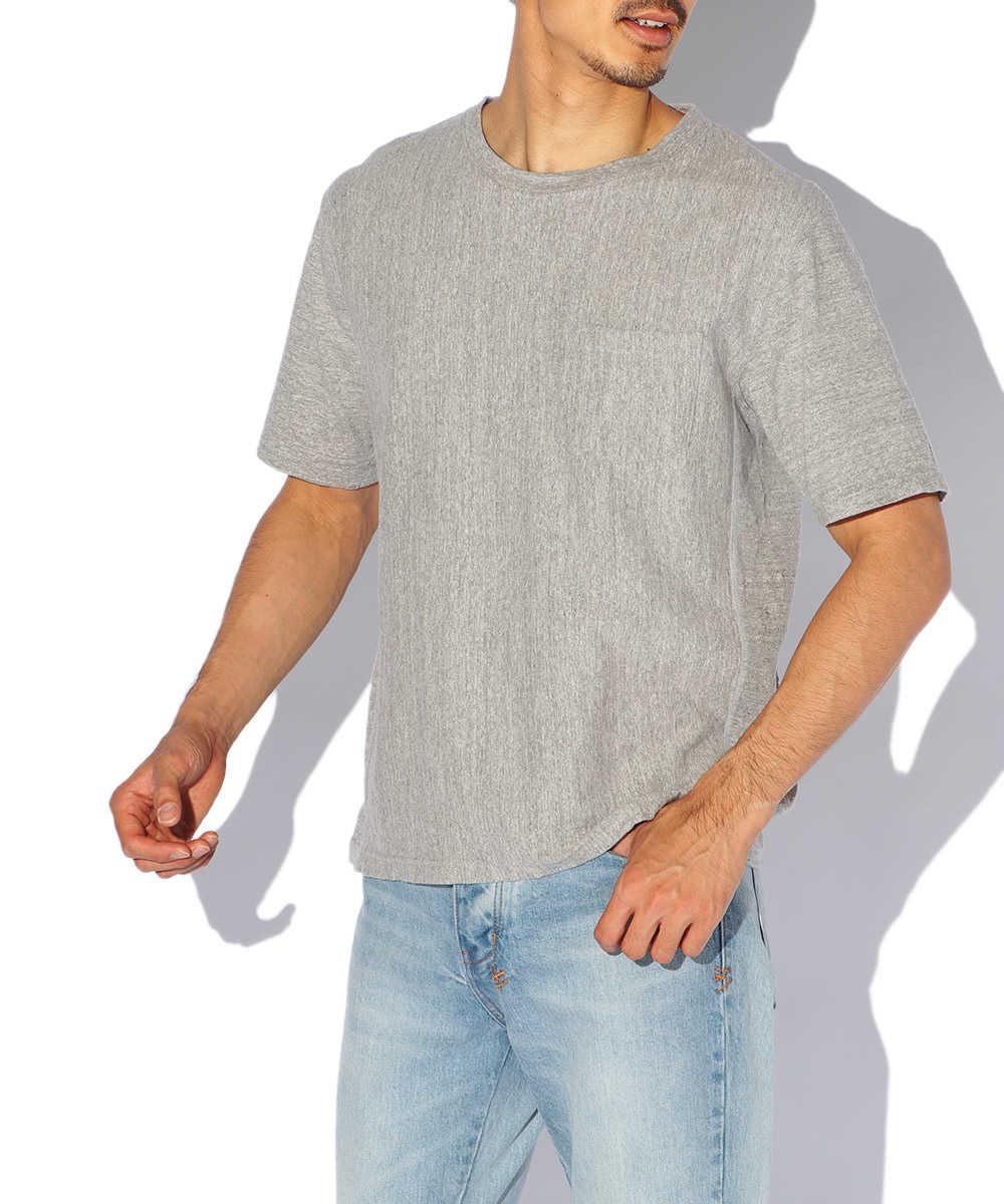 インバースウィーブポケットクルーネックTシャツ