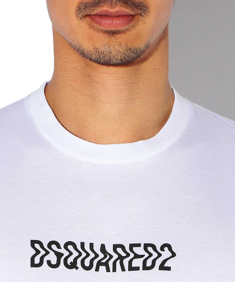 コットンロゴクルーネックTシャツ