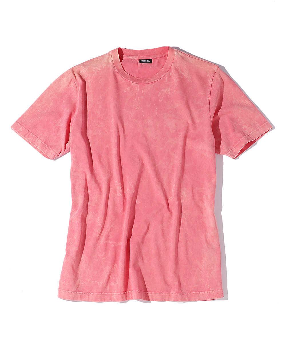 マーブルプリントクルーネックTシャツ