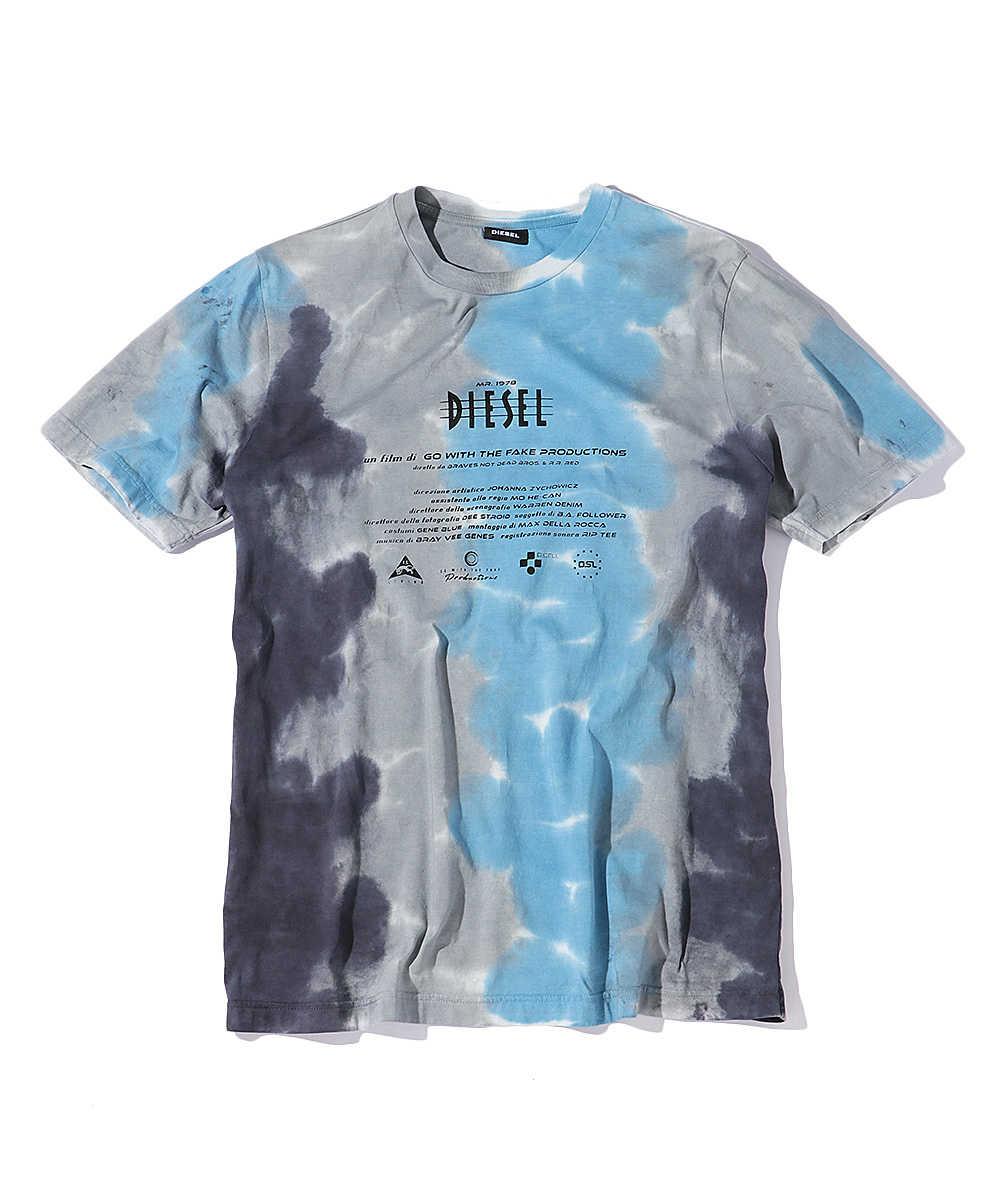 タイダイロゴプリントクルーネックTシャツ