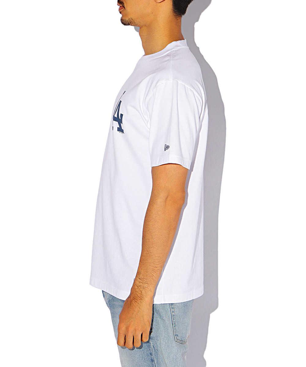 【8月中旬入荷予定別注・限定商品】ロサンゼルス・ドジャースプリントクルーネックTシャツ