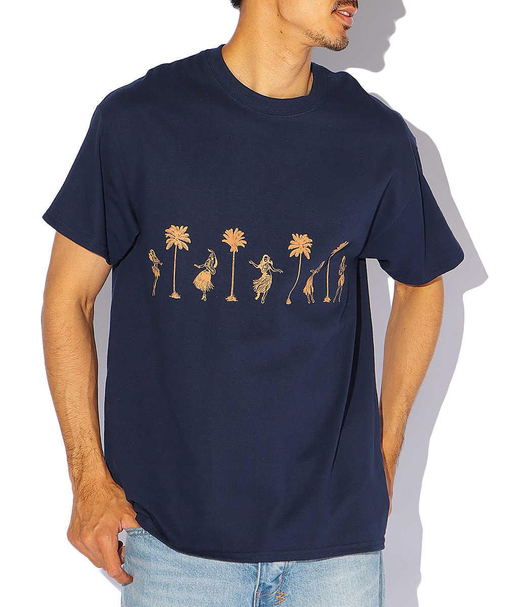 【5月中旬入荷予定】アロハプリントクルーネックTシャツ