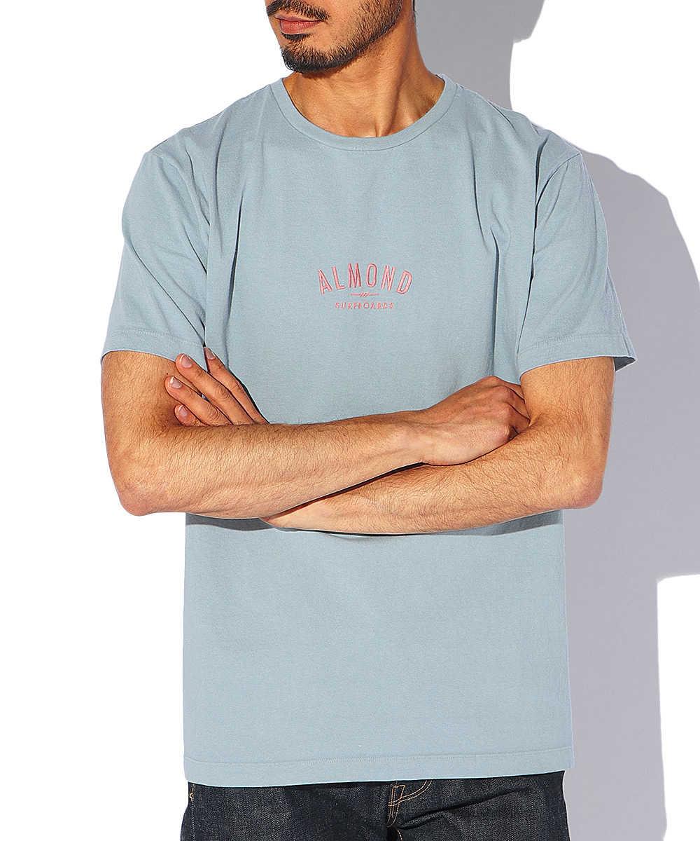 ワンポイントロゴ刺繍クルーネックTシャツ