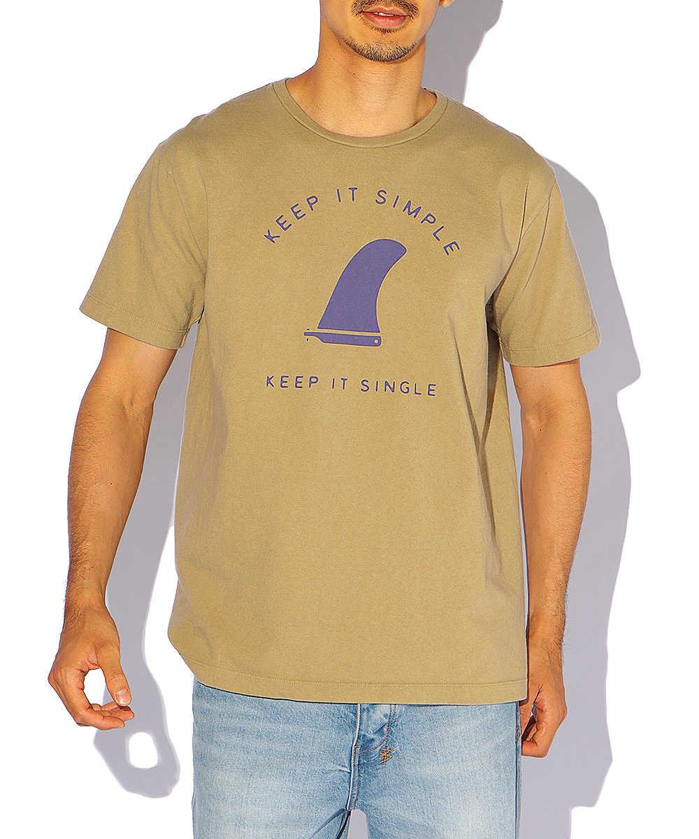 ロゴプリントコットンクルーネックTシャツ