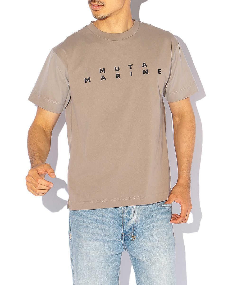 スリーブ切替クルーネックTシャツ