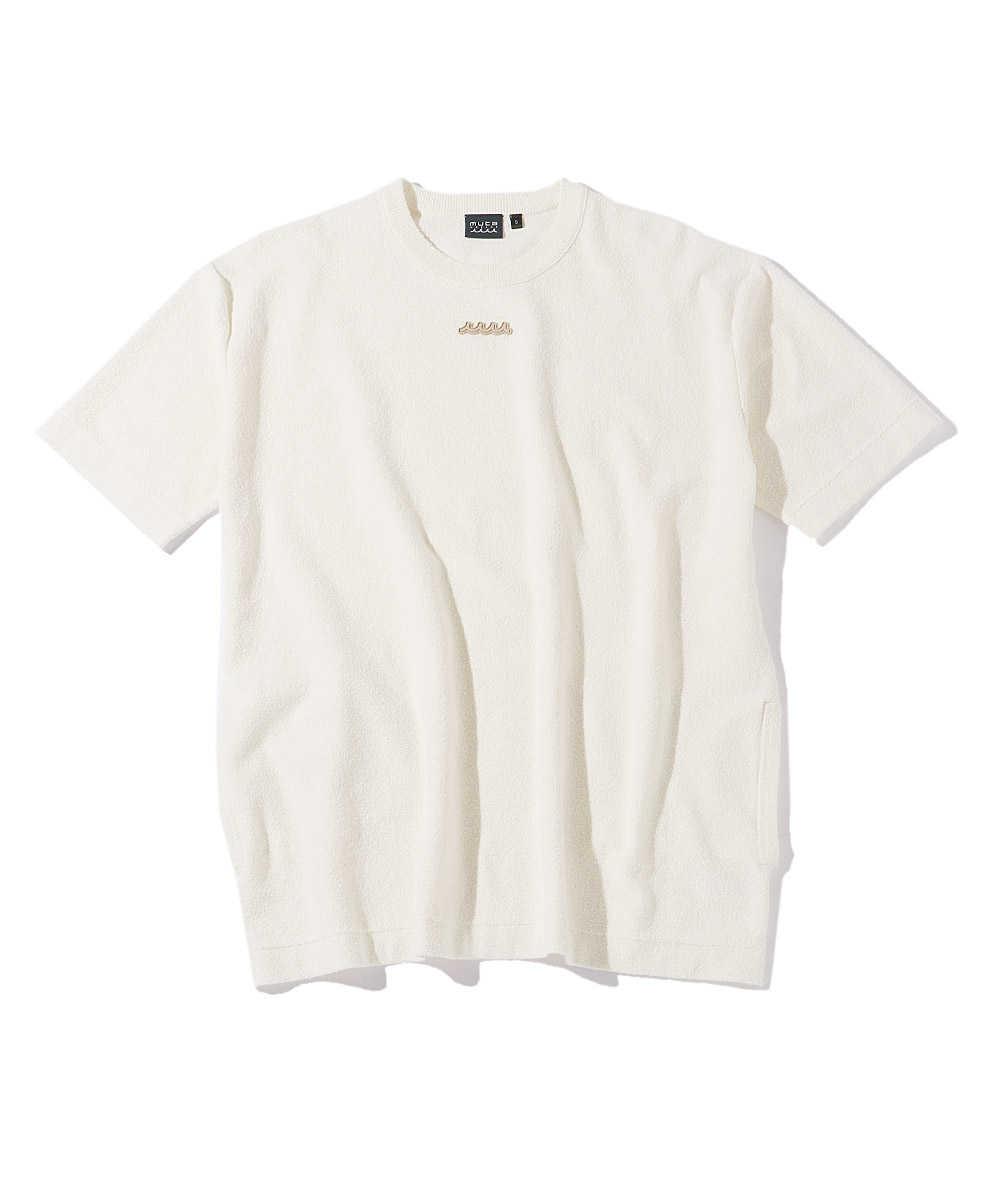 パイルオーバーサイズクルーネックTシャツ
