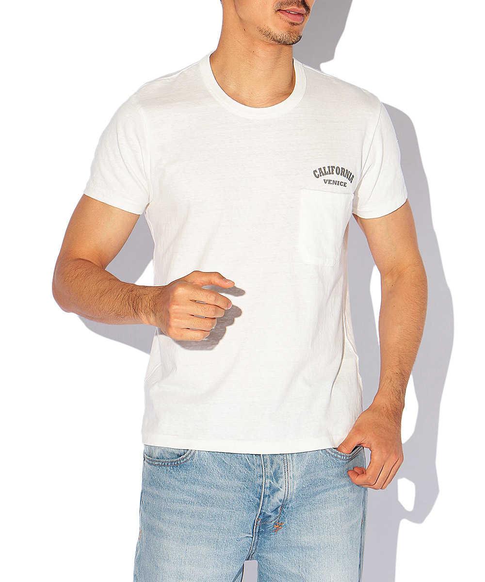 ワンポイントロゴポケットクルーネックTシャツ