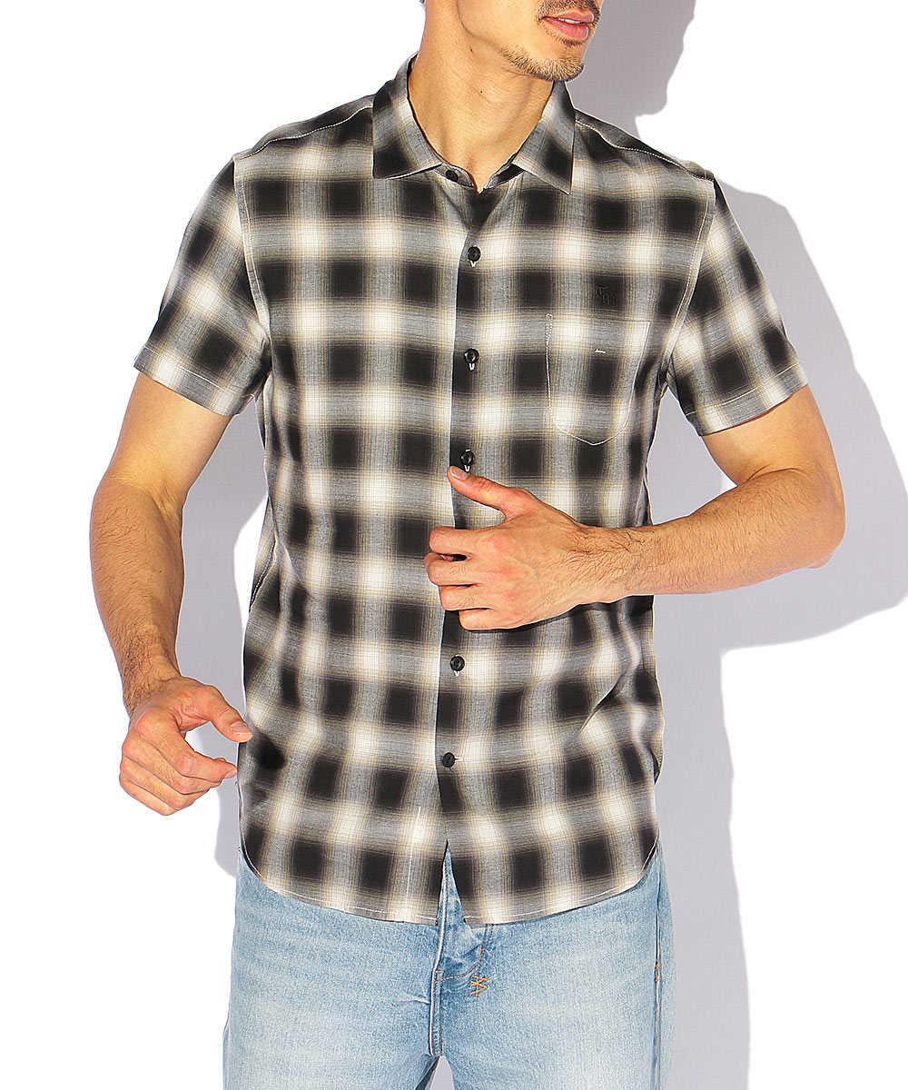 オンブレチェックコットンシャツ