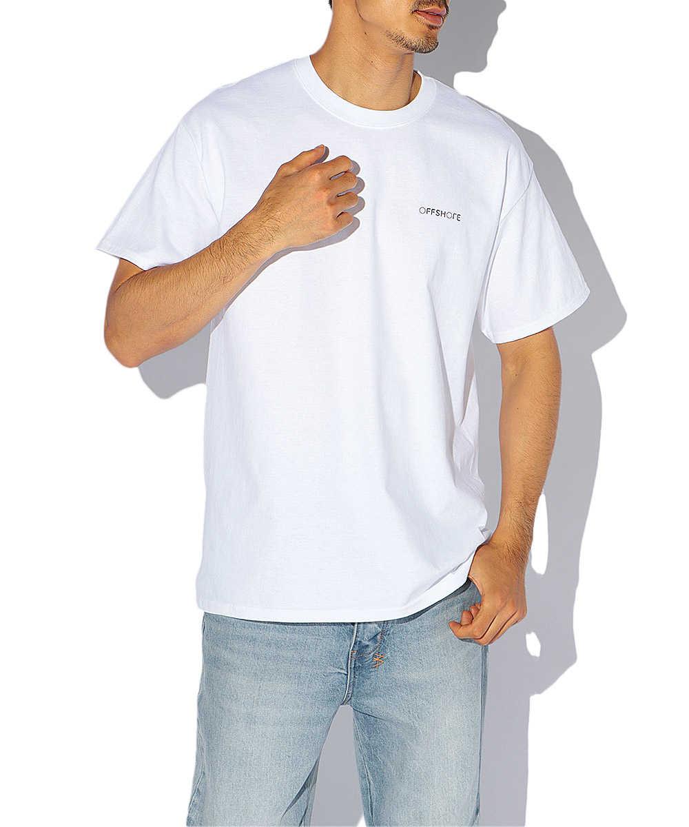 オフショア×ユースケ フォトプリントクルーネックTシャツ