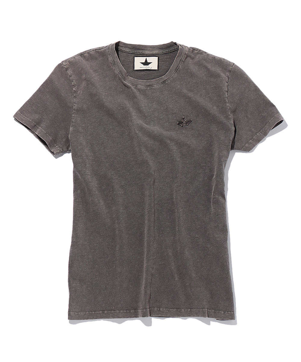 スターワンポイントロゴクルーネックTシャツ