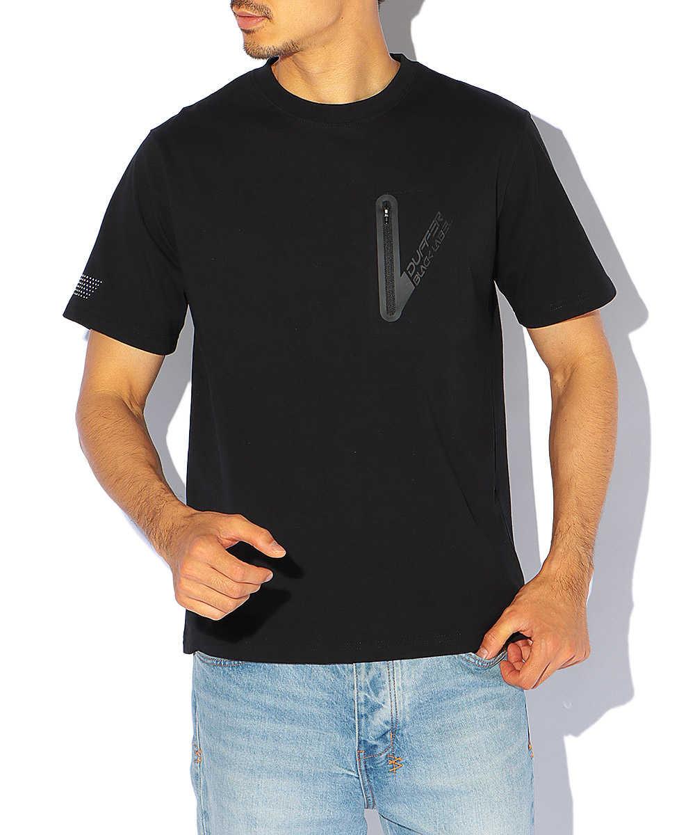 【ブラックレーベル】CVC ポケットクルーネックTシャツ