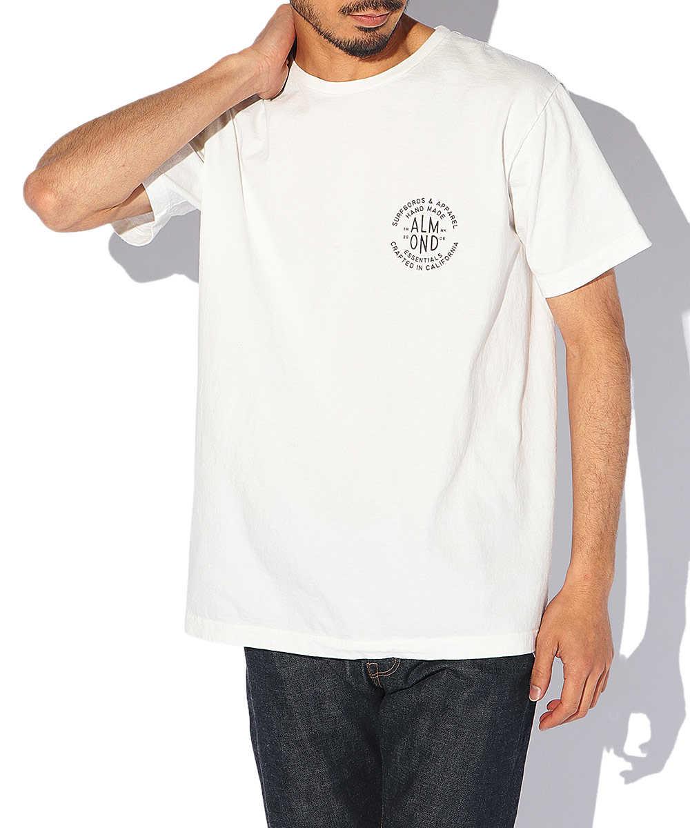 バックプリントロゴコットンクルーネックTシャツ