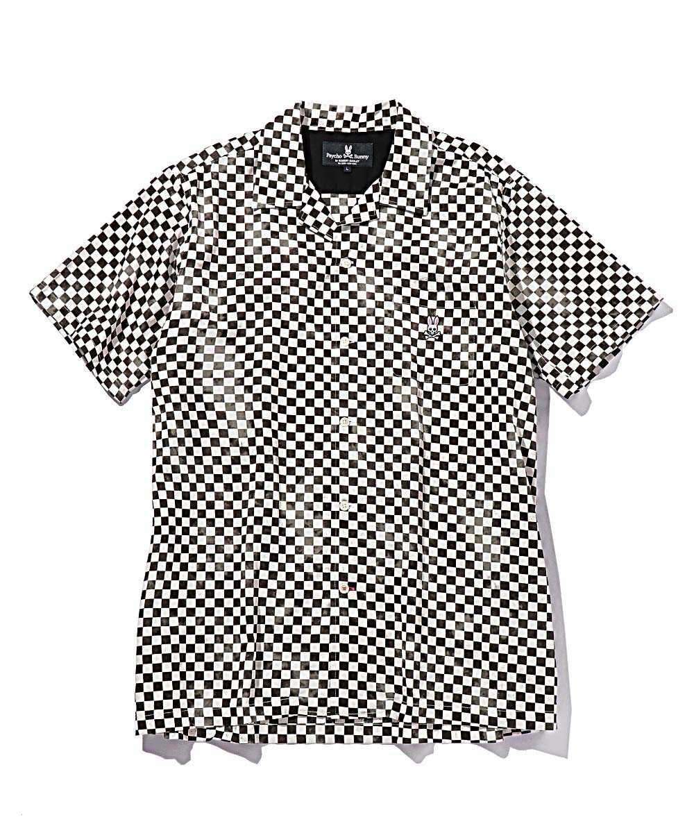タイダイチェック半袖シャツ