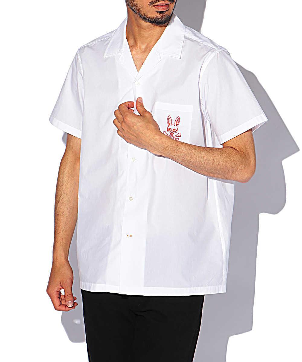 エンブロイダリー&プリント半袖シャツ