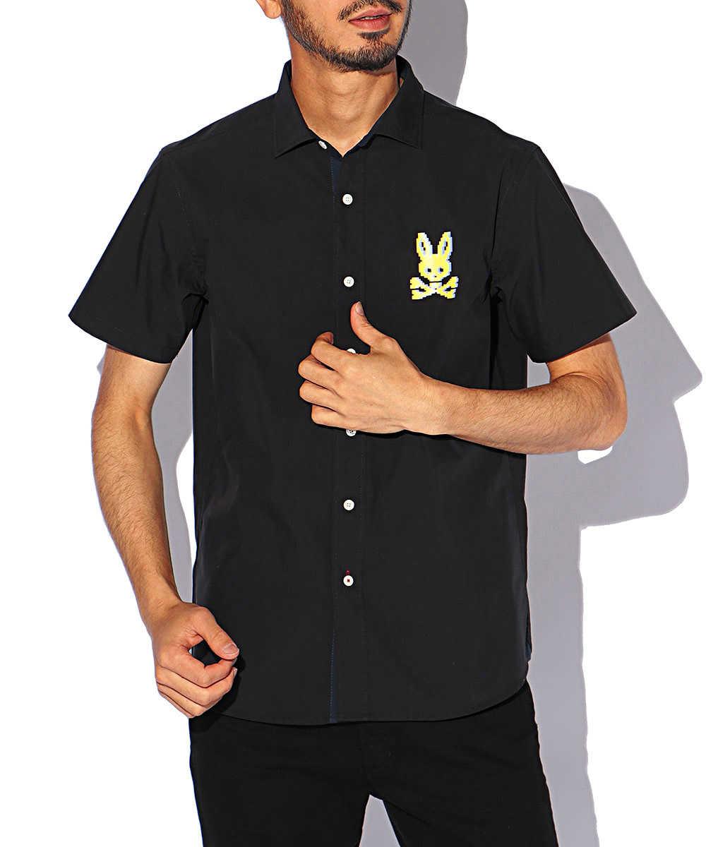 ピクセルバニー ストレッチ半袖シャツ