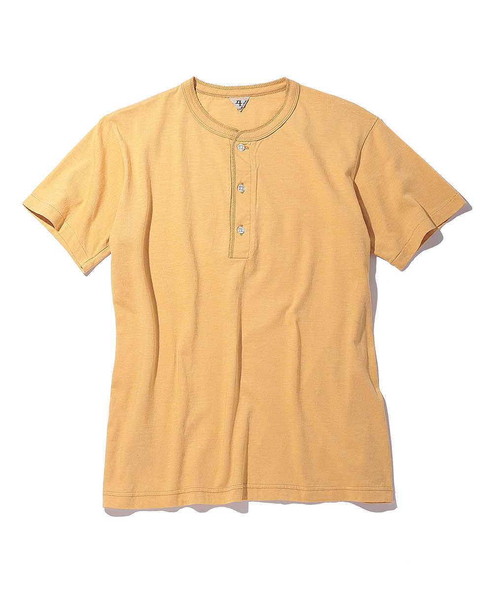 ポケットヘンリーネックTシャツ