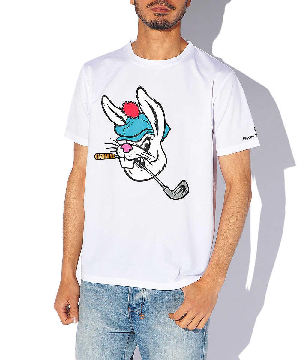カートゥーンバニー プリントクルーネックTシャツ