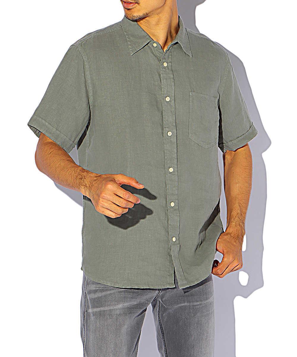 リネンプレーンシャツ