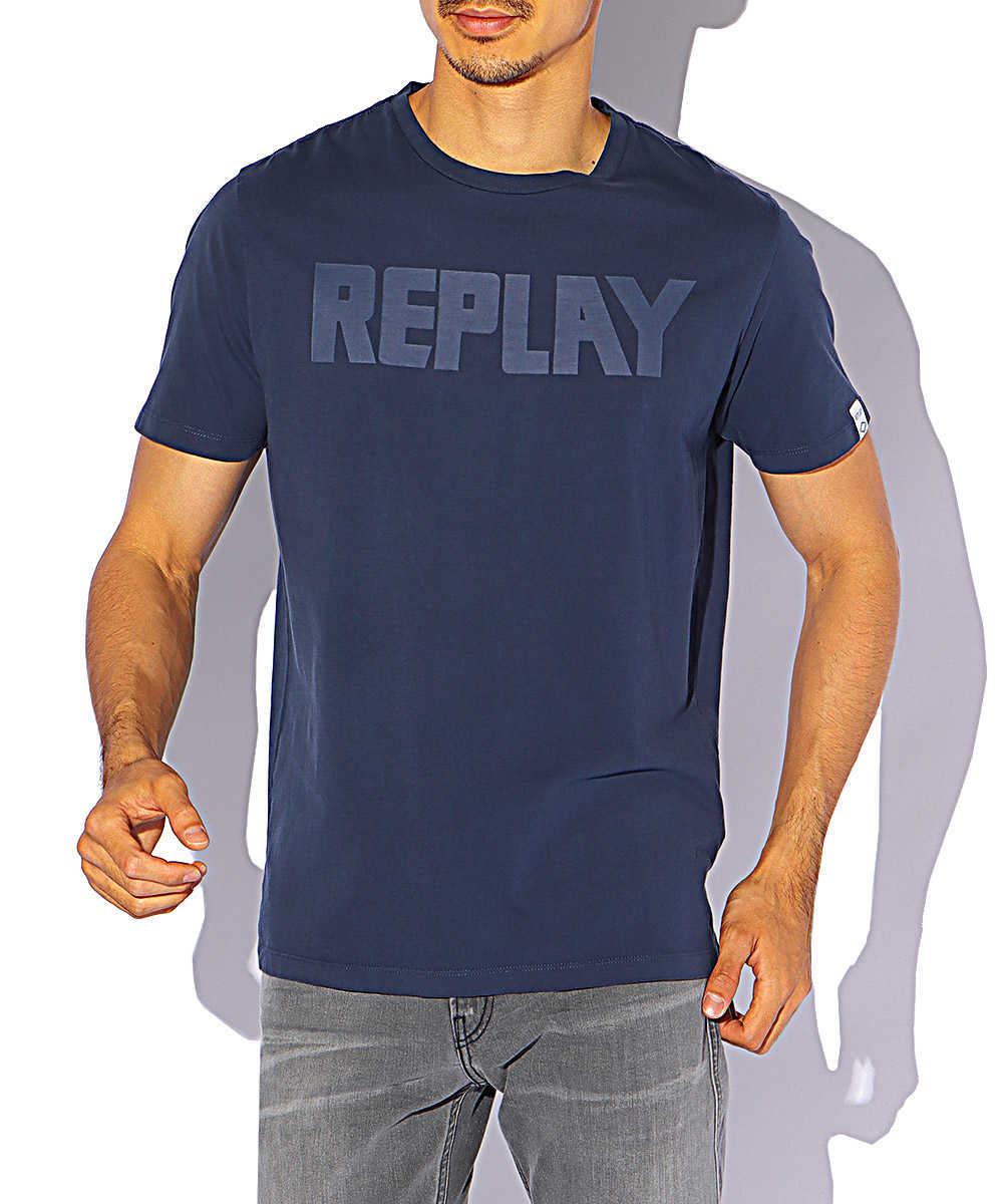 オーガニックコットンジャージーロゴクルーネックTシャツ
