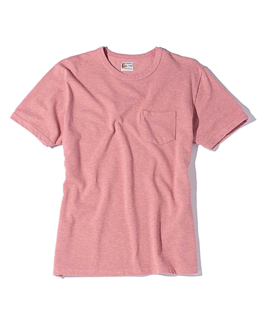クルーネックピケポケットTシャツ オーガニックコットン