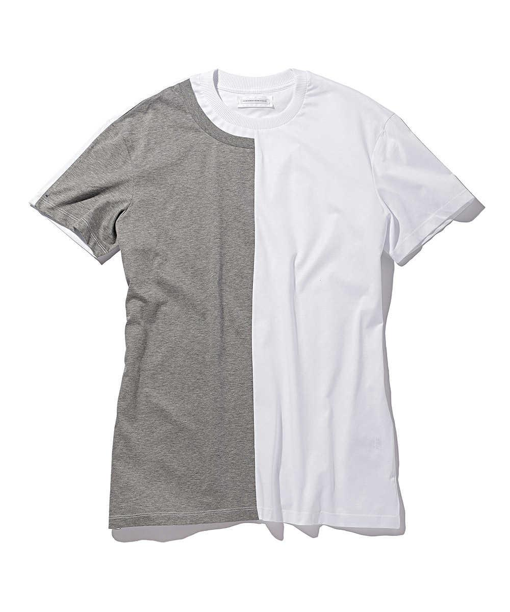 切り替えコットンクルーネックTシャツ