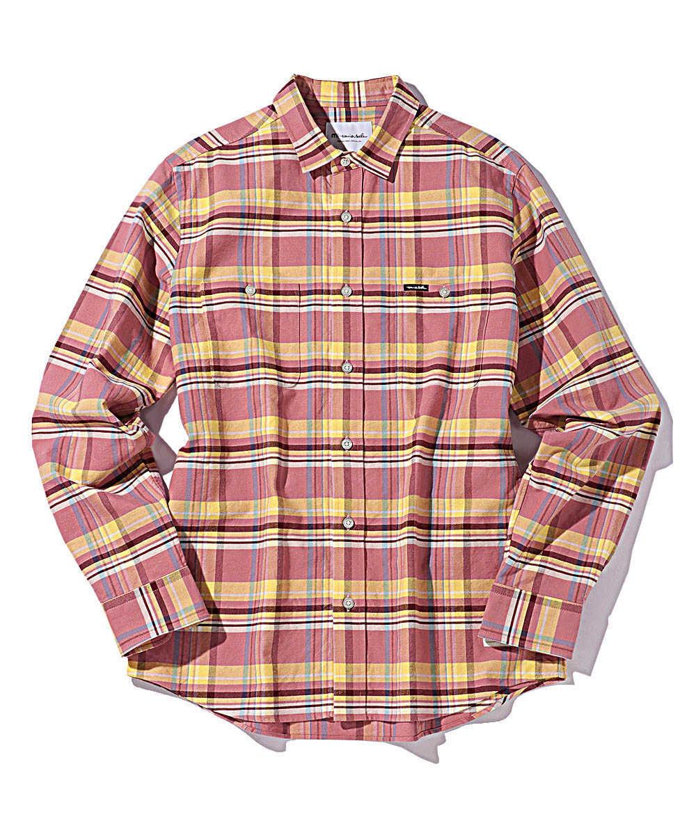 マドラスチェックネルシャツ