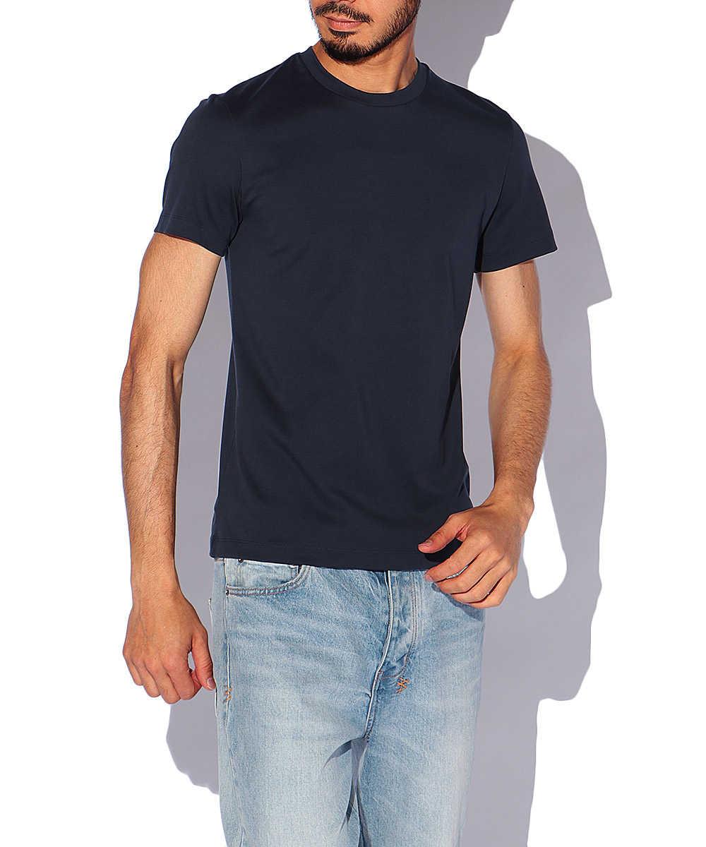スビンプラチナムスムースクルーネックTシャツ