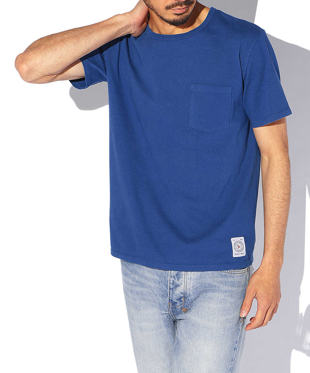 メイドインUSAクルーネックポケットTシャツ
