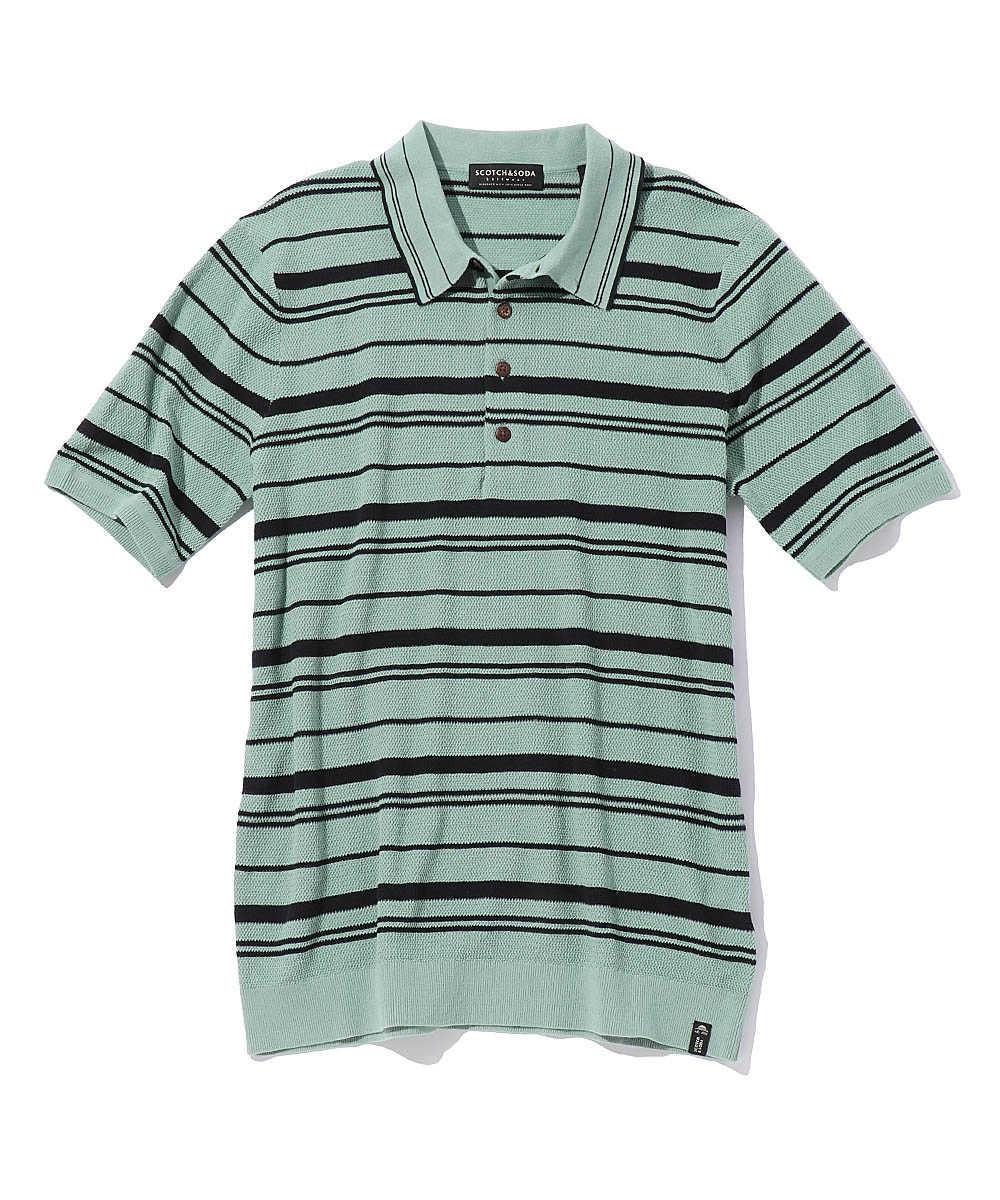 コットンニットポロシャツ