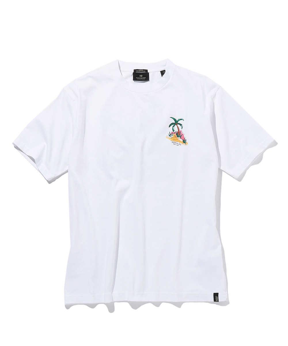ワンポイントグラフィックコットンクルーネックTシャツ