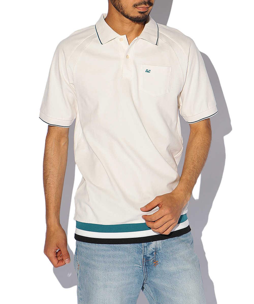 コットンラインポロシャツ