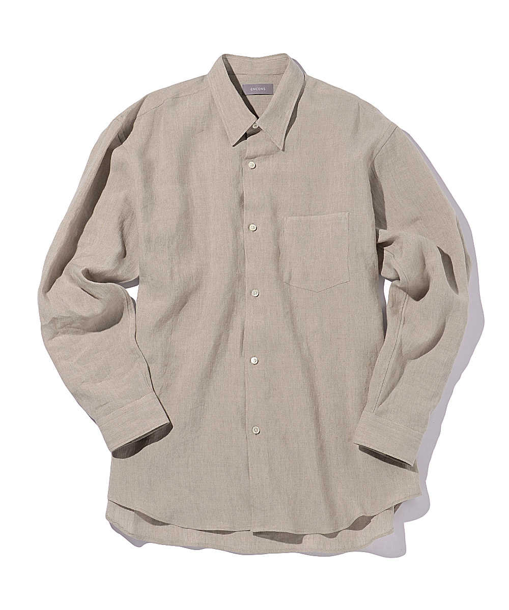プレーンリネンシャツ
