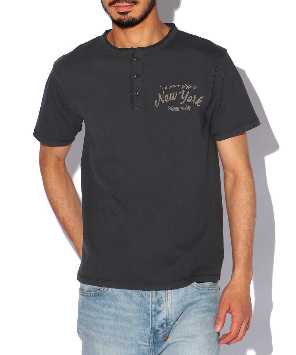 バックウィングハンドクルーネックTシャツ