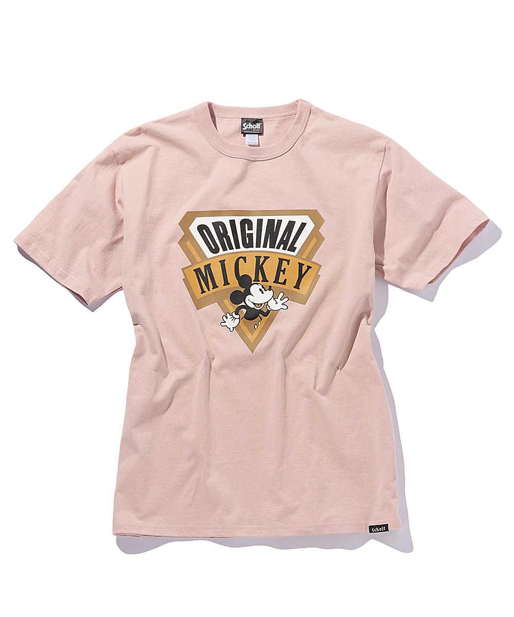 オリジナル ミッキープリントクルーネックTシャツ