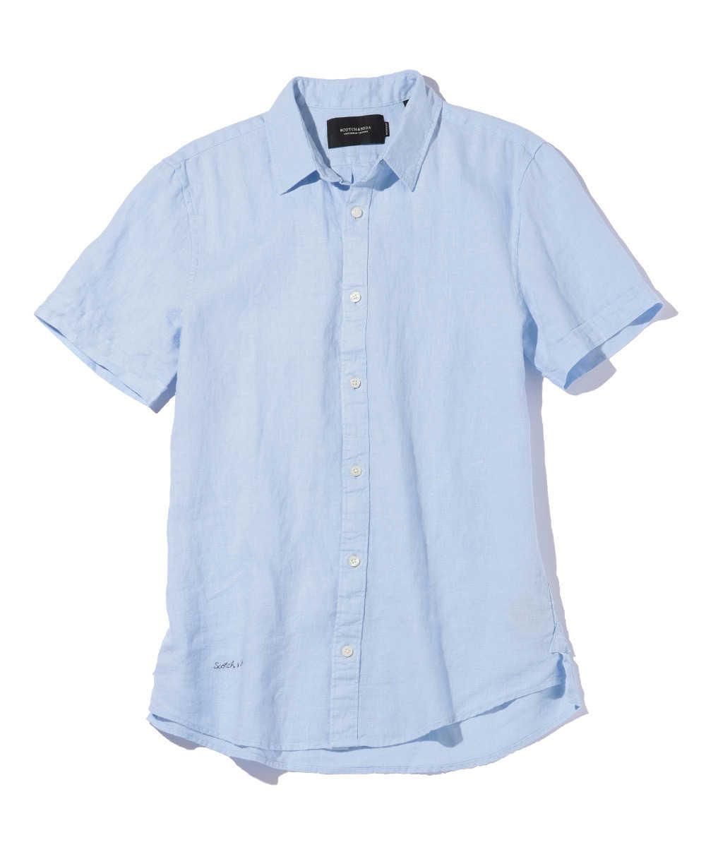 リネンショートスリーブシャツ