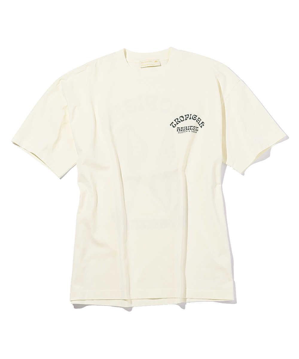 オーバーサイズアートワークプリントクルーネックTシャツ