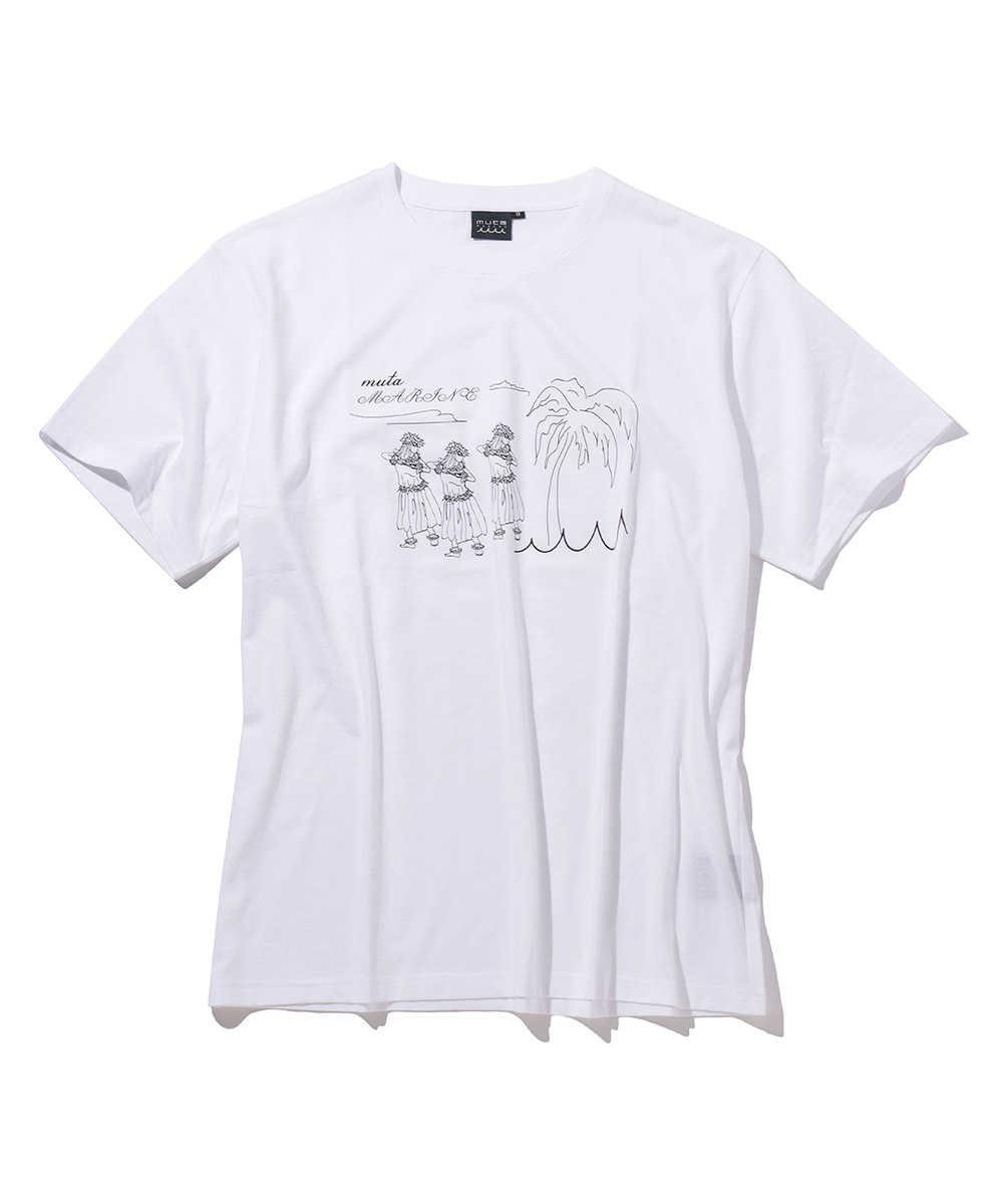 """""""フラガール""""プリントクルーネックTシャツ"""