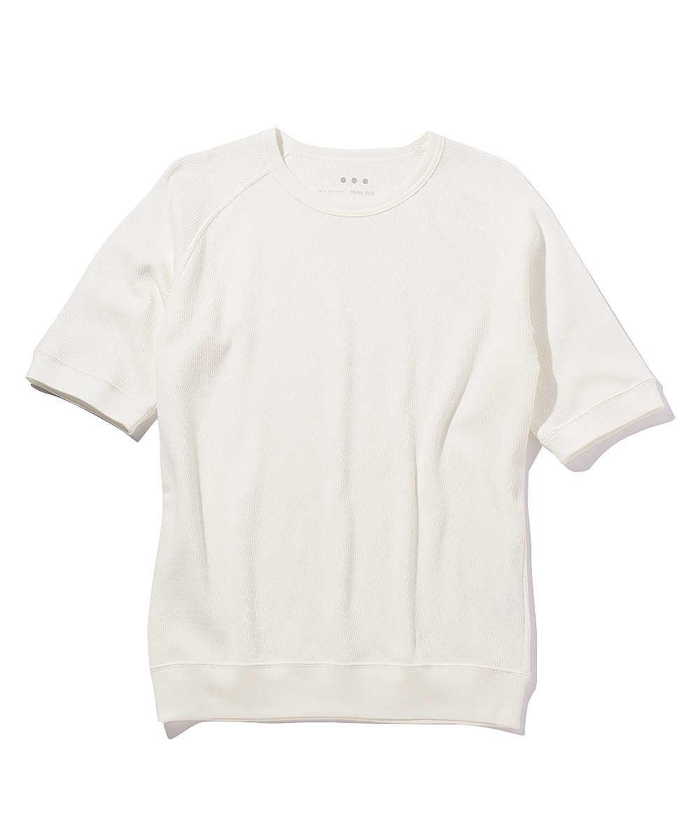 ピマコットンラグランクルーネックTシャツ