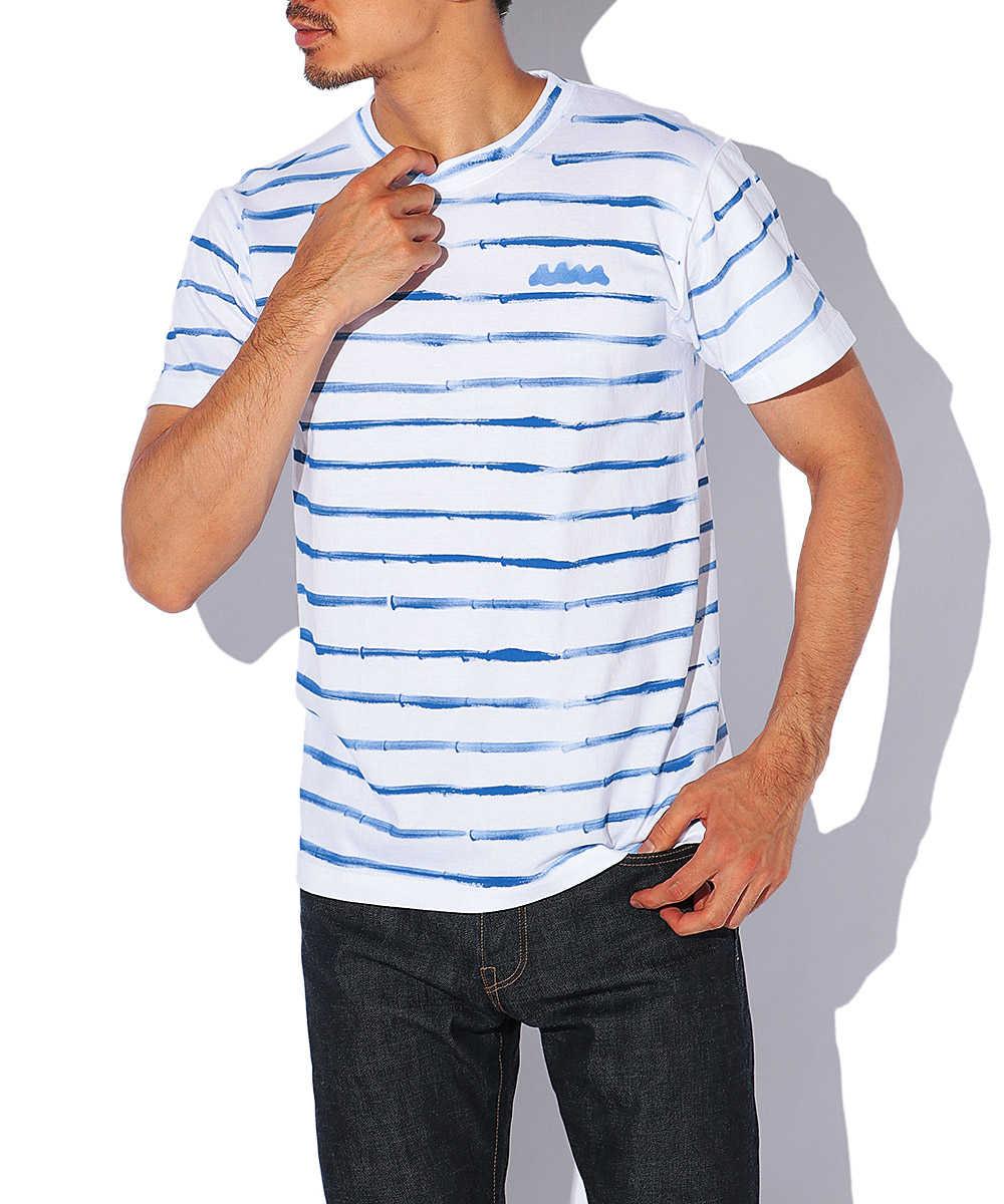 ハンドボーダークルーネックTシャツ