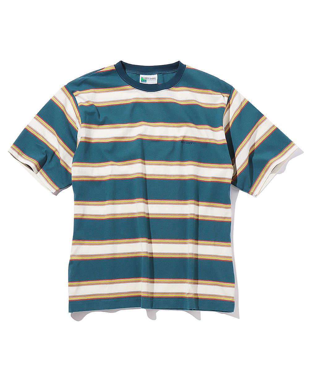 マルチボーダークルーネックTシャツ
