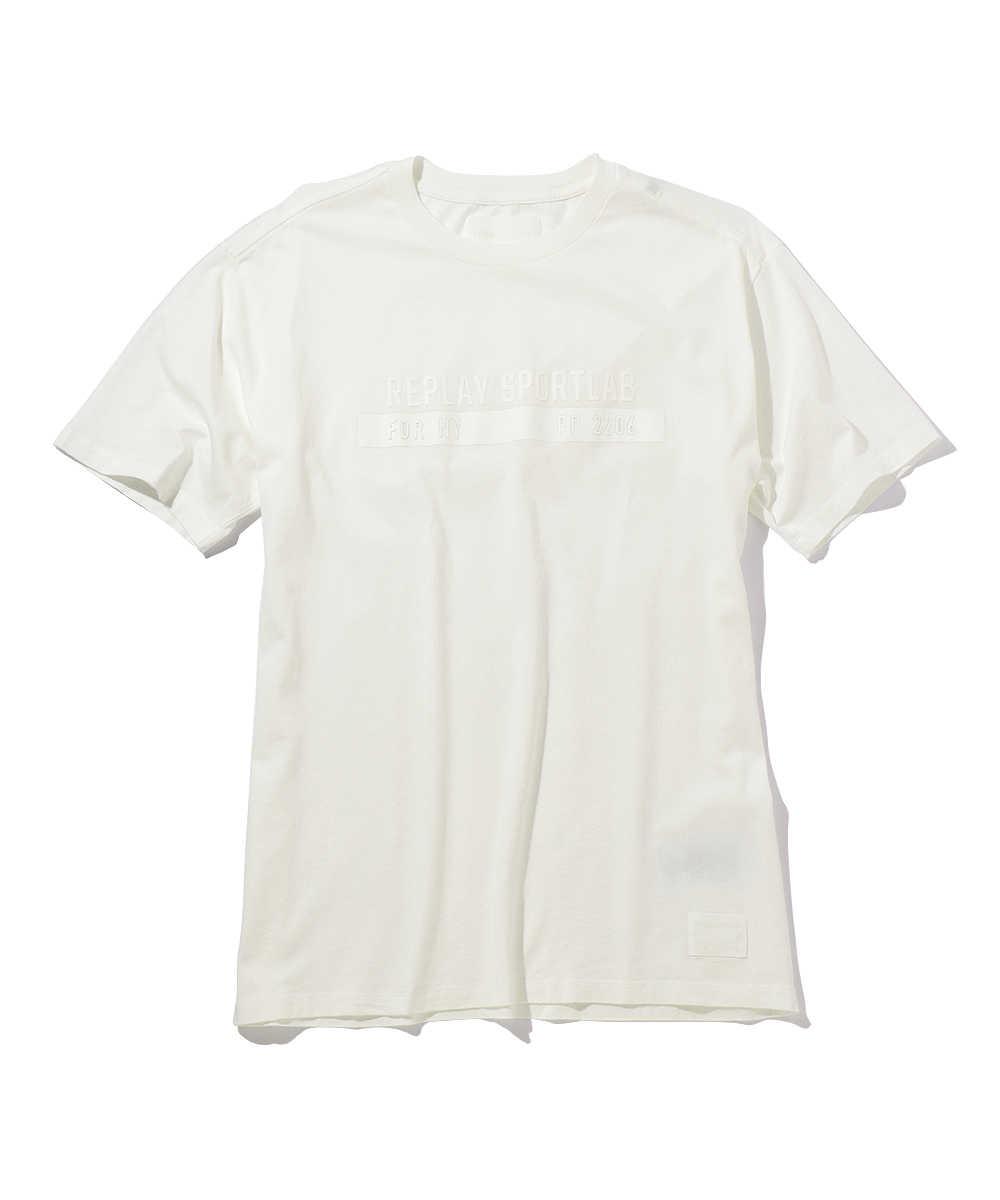コットンジャージーロゴクルーネックTシャツ