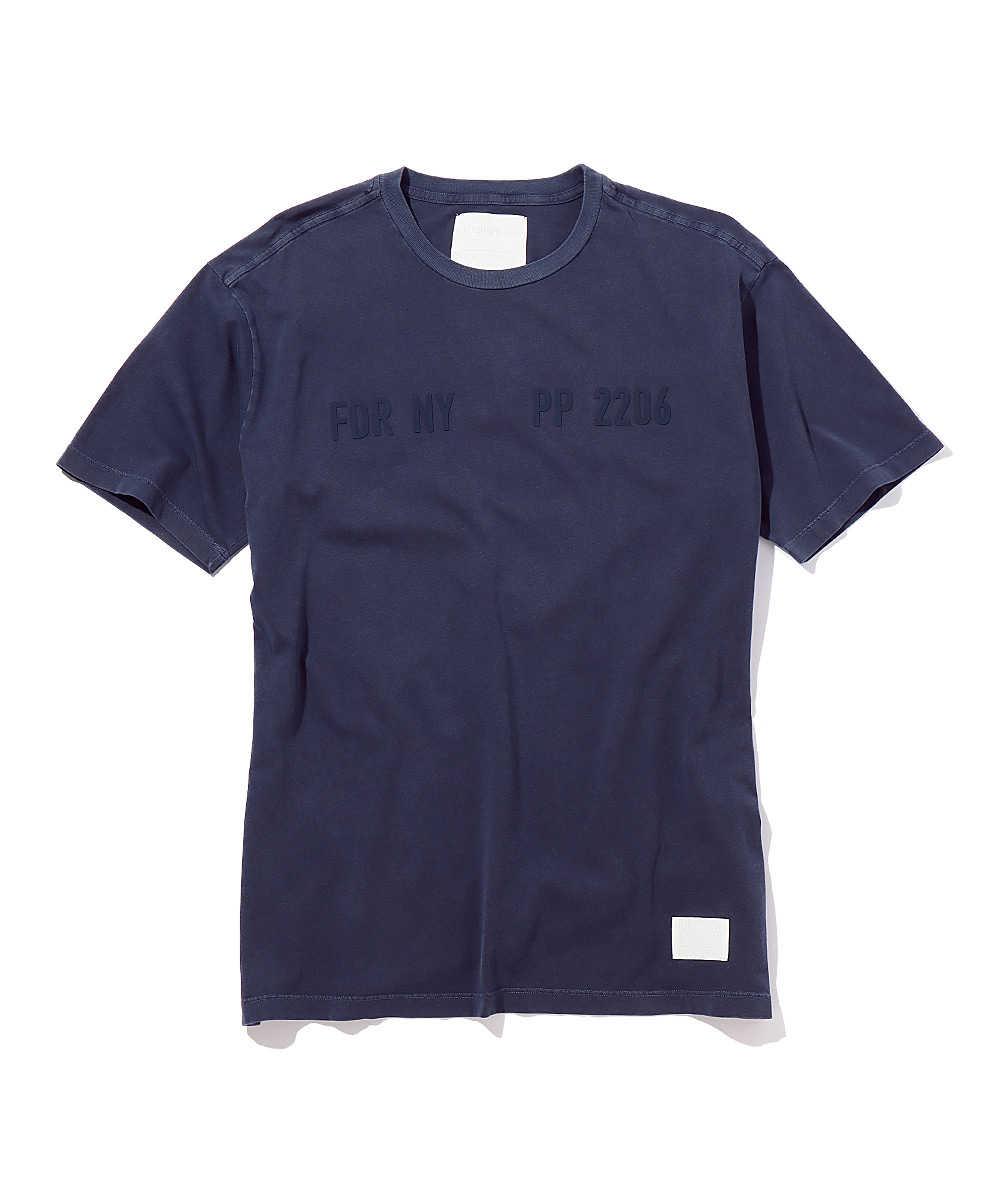 コットンジャージープリントクルーネックTシャツ