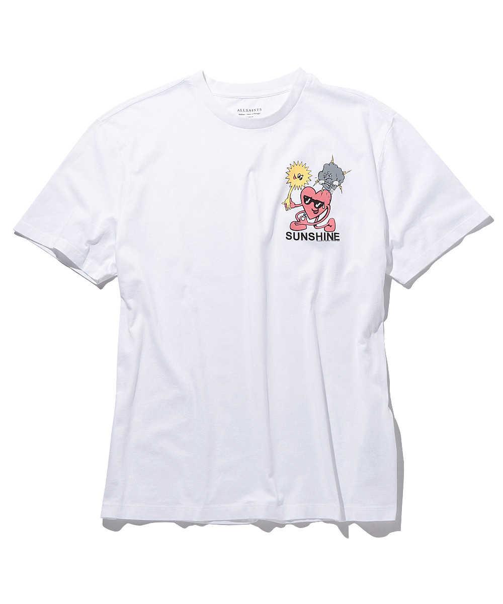 ワンポイントプリントクルーネックTシャツ