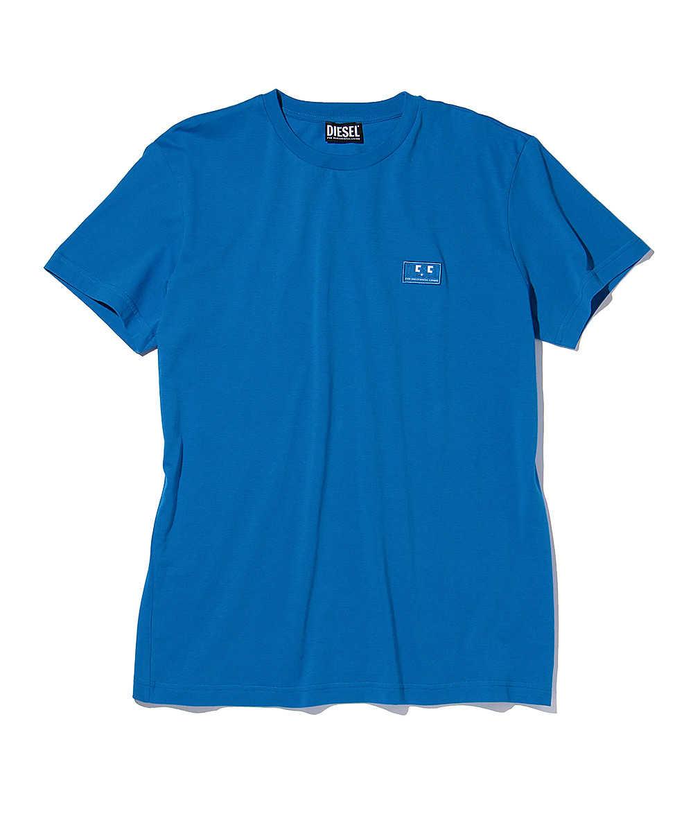 ワンポイントロゴプリントクルーネックTシャツ
