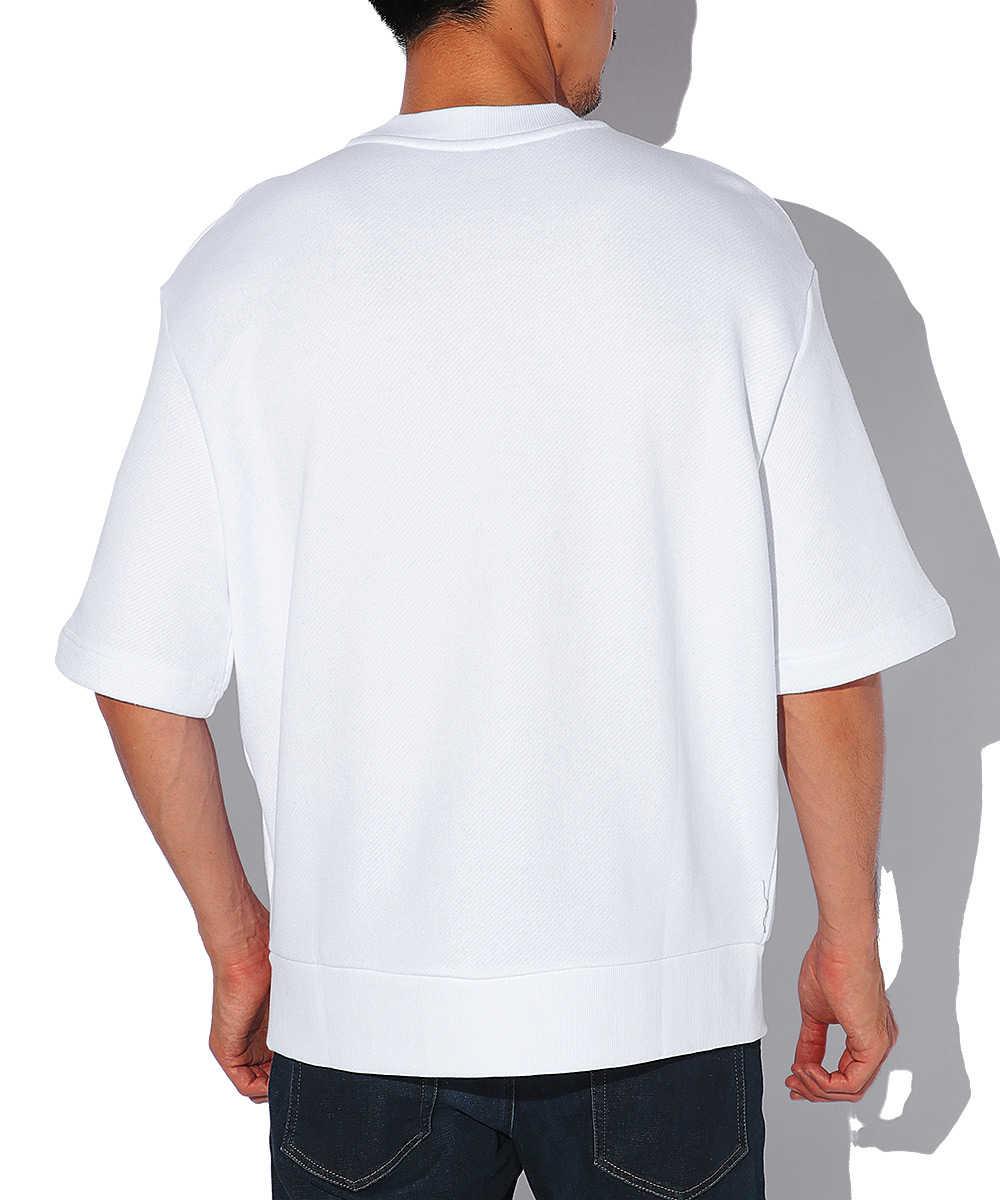 グラフィックプリント半袖スウェットシャツ