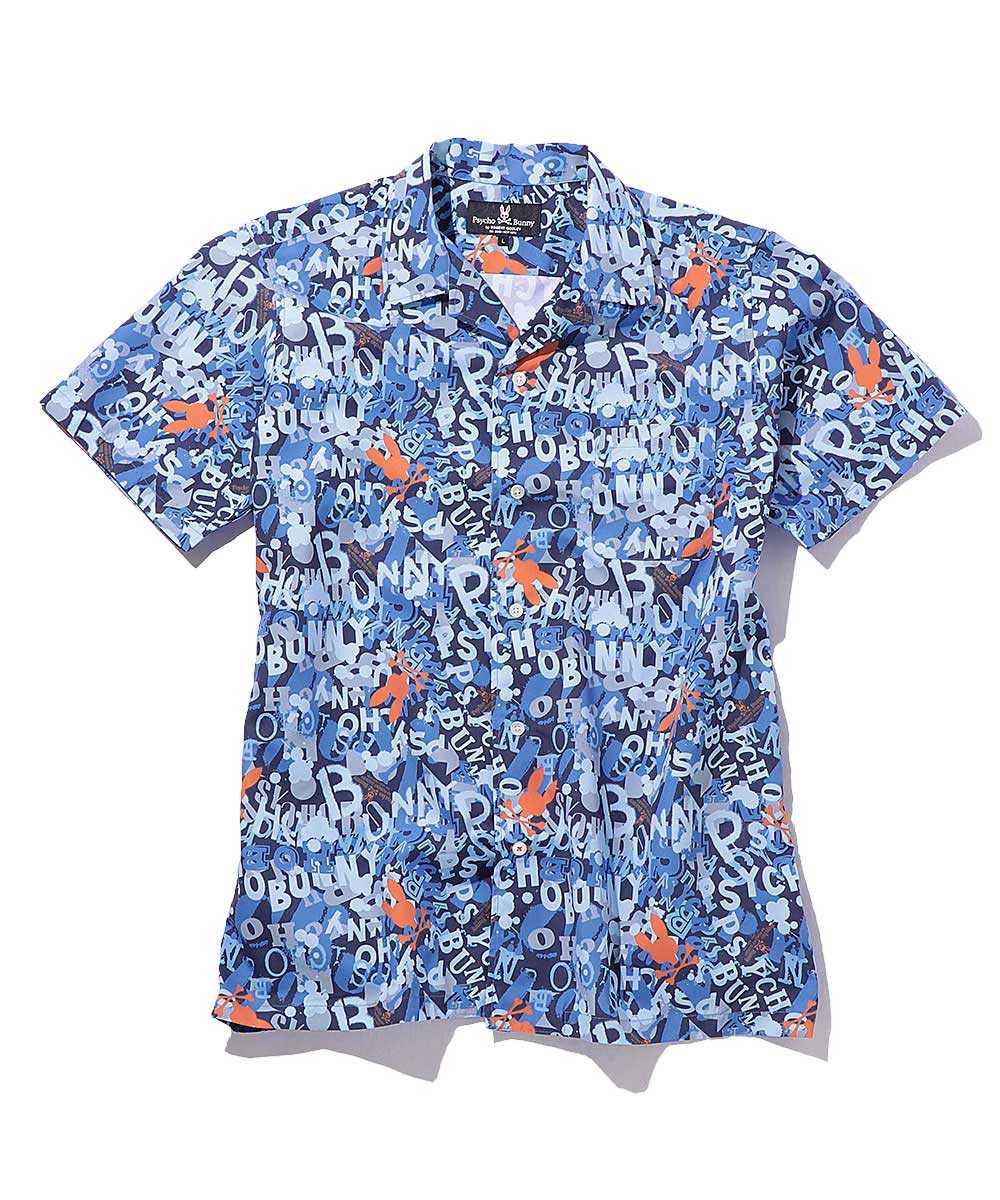 グラフィティ プリント半袖シャツ