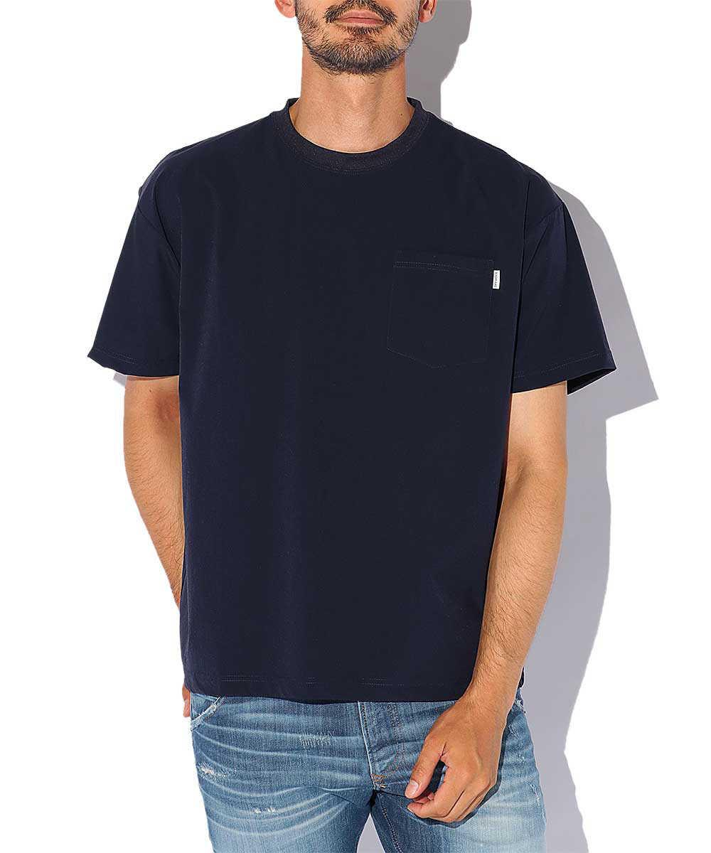 ナイロンポケットクルーネックTシャツ