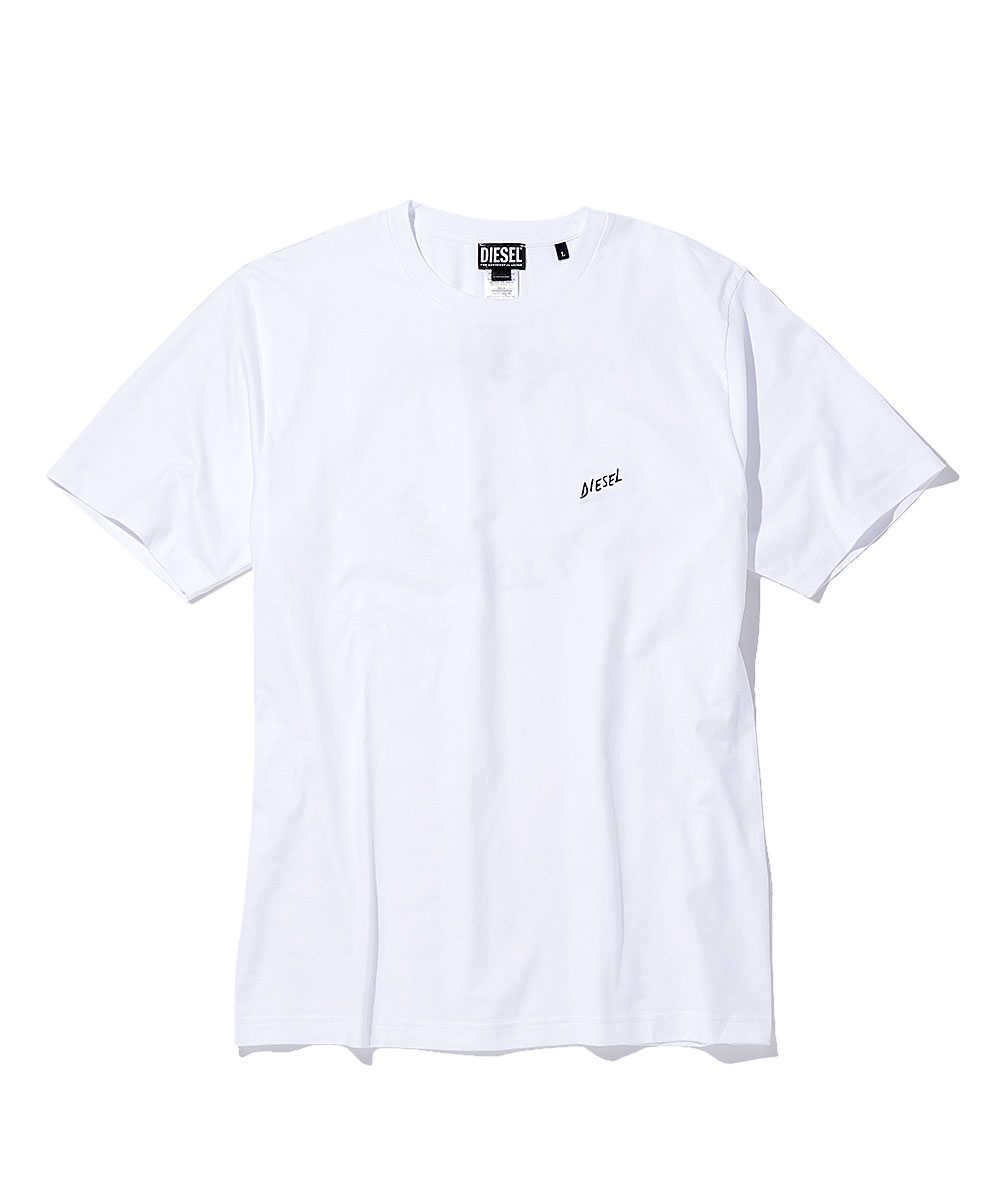 パームツリーバックプリントクルーネックTシャツ