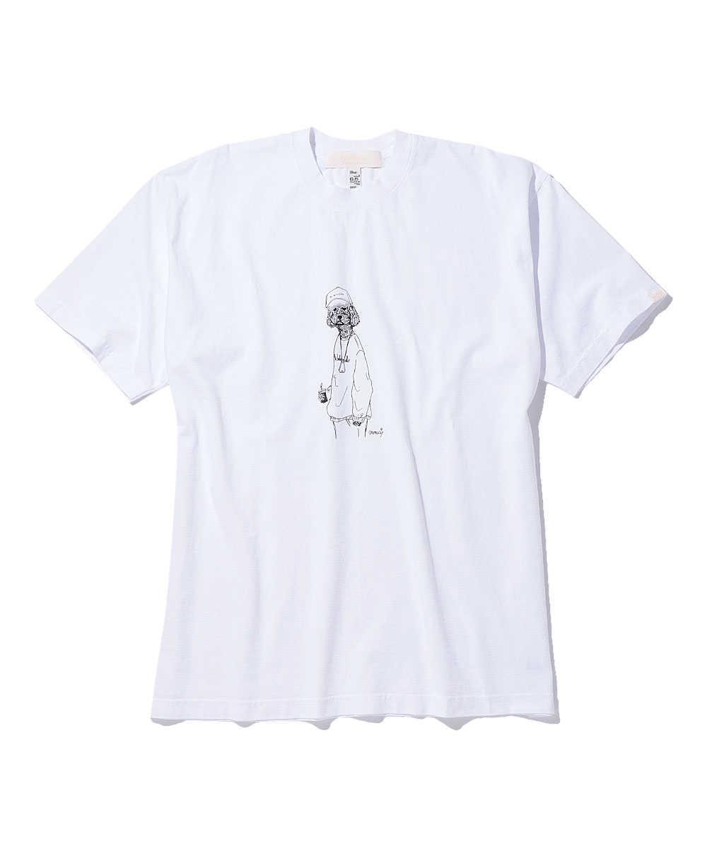 """エイブレンズ×メメシ """"トイプードル""""クルーネックTシャツ"""